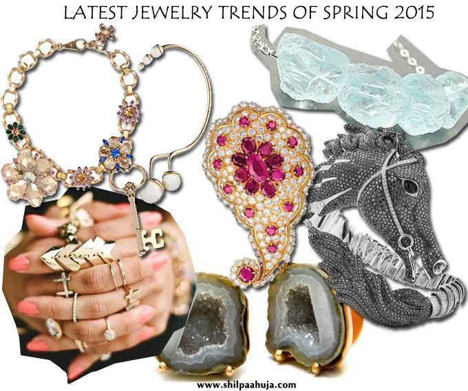 latest_jewelry_trends_fashion_style_spring_2015_summer_rings_necklaces_bracelets_earrings_charm_gold_horse_raw_stone_indian_van_cleef_dior_gucci