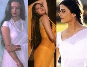 iconic Bollywood costumes chiffon_saree_bollywood_actress_rekha_sridevi_aishwarya_rai