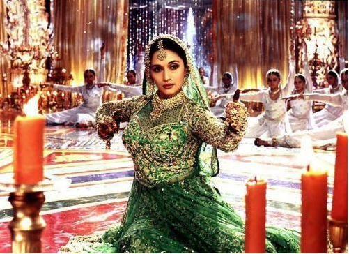 madhuri_dixit_devdas_green_dress_maar_dala_song_beautiful_most_iconic_movie_actress_heroine_look_desi_bollywood
