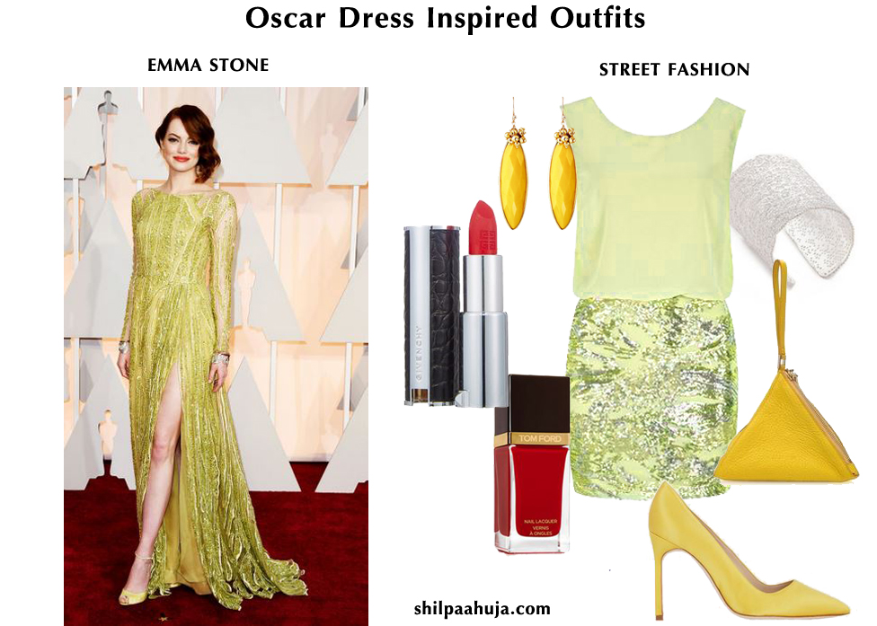oscar-celebrity_dress_inspired_outfits_womens_fashion_style_guide_street fashion__mix_match_mixnmatch_EMMA_STONE_yellow_silver