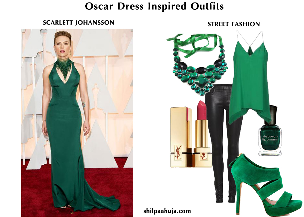 oscar-celebrity_dress_inspired_outfits_womens_fashion_style_guide_street fashion__mix_match_mixnmatch_SCARLETT_johansson_green_black