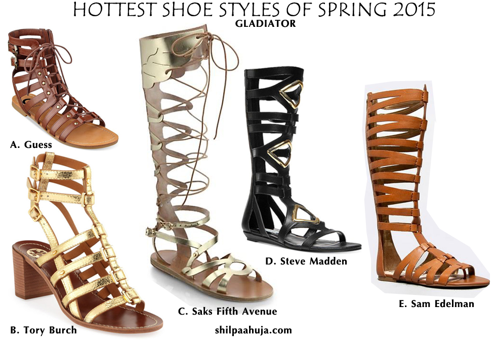 womens_shoes_trends_styles_fashion_spring_2015_gladiator_flats_sandals_brown_gold_black_guess-tory_burch_sam_edelman_saksfifthavenue_steve_madden_tory_burch