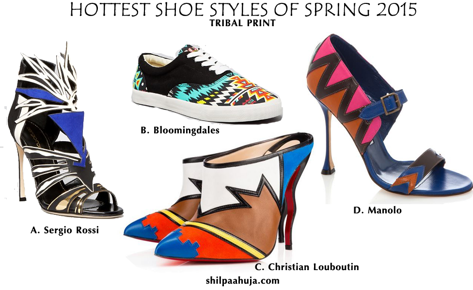 womens_shoes_trends_styles_fashion_spring_2015_high_heels_flats_blue_black_brown_tribal_print_christian_louboutin-manolo_bloomingdales_