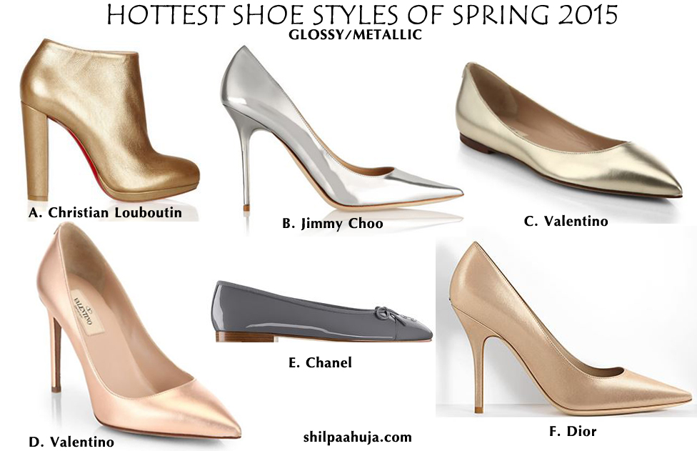 womens_shoes_trends_styles_fashion_spring_2015_shiny_glossy_metallic_flats_heels_pumps_jimmy_choo_dior_valentino_chanel_louboutin_gold_silver_rose_navy