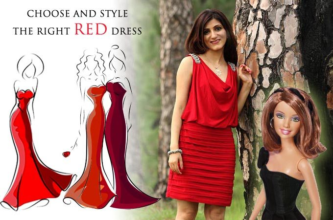 how_to_select_and_style red cocktail dress skin_tone_choose_party_fashion_ideas_SHILPA_AHUJA
