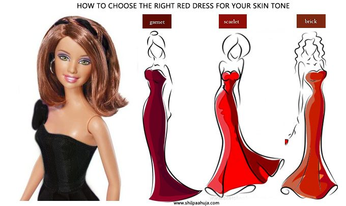 how_to_select_and_style_red_cocktail_dress_skin_tone_medium_complexion_choose_party_fashion_ideas