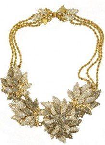 miriam_haskell_statement_necklace_flower_leaf_gold_australian_crystals_glass_beads_wear_wardrobe_essential_items