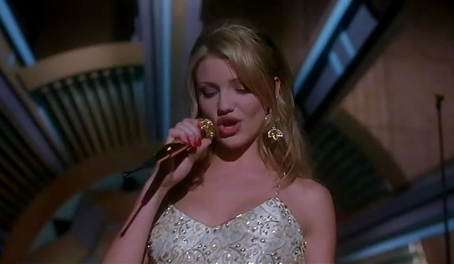 most_iconic_hollywood_white_dress_movie_actress_the_mask_cameron_diaz_dance_bar_performance_mini_sequin_applique_1