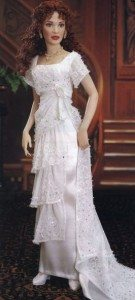 most_iconic_hollywood_white_dress_movie_actress_titanic_kate_winslet_rose_heaven_gown_crystal_real_doll_copy_replica