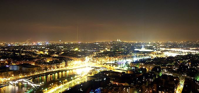 view_from_top_of_Eiffel_Tower_tour_travel_tourism_paris_france_europe_popular_landmark_night_lights