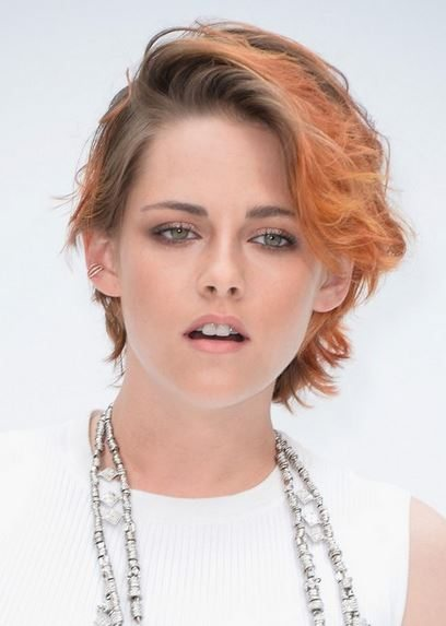 haircut_hairstyle_spring_summer_latest2015_womens_celebrity_fashion_style_kristen_stewart_short_wavy_color_brown_rust
