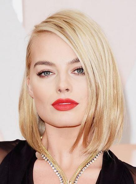haircut_hairstyle_spring_summer_latest2015_womens_celebrity_fashion_style_margot_robbie_medium_short_medium_bob_blonde