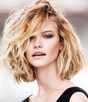haircut_hairstyle_spring_summer_latest2015_womens_fashion_style_messy_medium_wavy_short_bangs_bob_blonde
