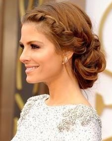 hairstyle_womens_latest_2015_spring_summer_bridal_braid_band_bun_side