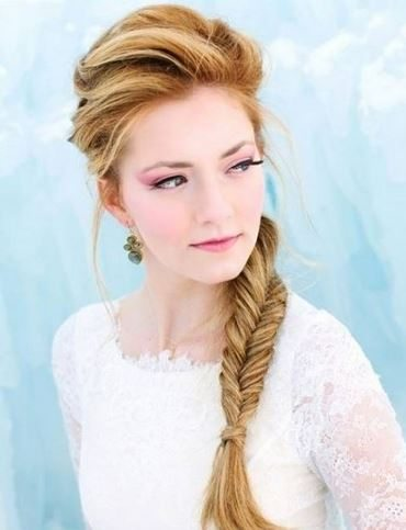 hairstyle_womens_latest_2015_spring_summer_easy_side_fishtail_braid_office_casual