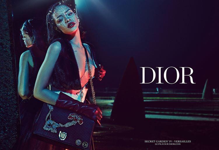 rihanna_dior_commercial_still_secret_garden_iv_versailles_face_net_red_lipstick_veil_black_gloves_bag