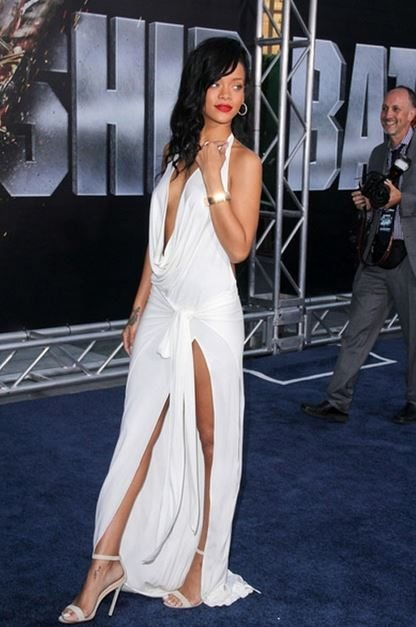 rihanna_white_deep_neck_backless_greek_goddess_inspired_grecian_slit_dress