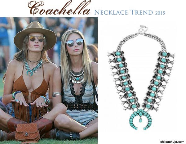 silver_bib_statement_necklace_designer_coachella_2015_fashion_style_look_shorts_tan_fringed_forever_21_bralette_alexandra_ambrosio_bauble_bar_amulet_turquoise_friends