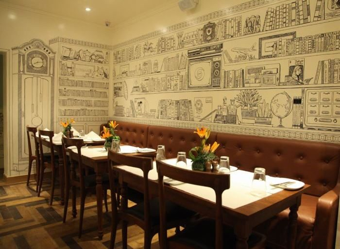 smoke_house_deli_lower_parel_mumbai_bombay_best_european_italian_restaurant_expensive_interiors_white_sketch_drawing_hand_beautiful_tasty_phoenix_mall