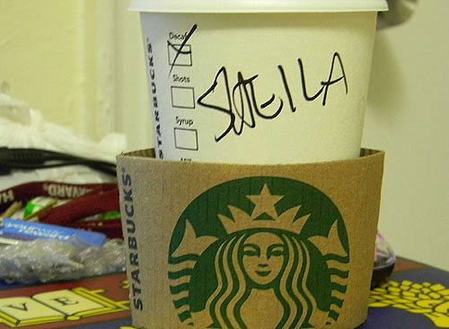 starbucks_cup_decaf_got_my_name_wrong_sweila_sheila_shilpa_harvard_law_school_mouse_pad