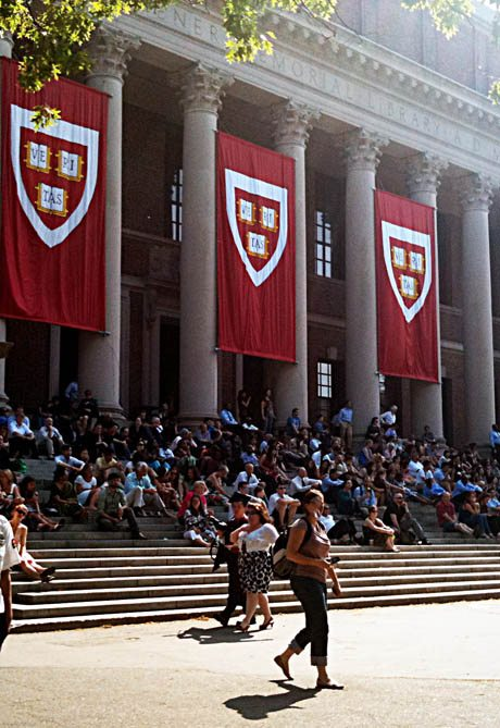 harvard_yard_commencement_morning_services_flag_widener_library_steps_cambridge_american_best_university_summer_graduation