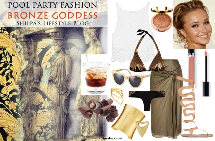 white_bronze_pool_party_dress_casual_summer_look_barbecue_weekend_monsoon_shopping_style_fashion_outfit_ideas_metallic_bikini_bronzer_beautiful_greek_goddess