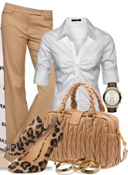 work_wear_office_outfit_power_dressing_women_ideas_professional_business_beige_pants_shirt