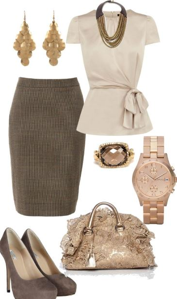 work_wear_office_outfit_power_dressing_women_ideas_professional_business_beige_skirt_shirt