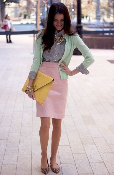 work_wear_office_outfit_power_dressing_women_ideas_professional_business_skirt_fresh_cute_pink_blue
