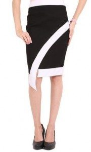 black_knee_length_skirt_party_wear_pencil_online_shopping_womens_white_border