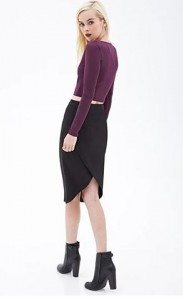 black_office_casual_wear_online_shopping_womens_forever_21_skirt_beautiful