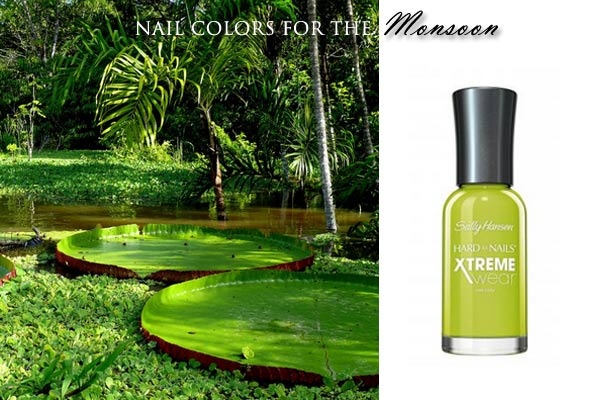 brazil_nail_polish_green_match_city_fashion_south_america_rainforest_monsoon_rainy_day_rain_water_lily_light_bright_leaf_fall_latest_trend_sally_hansen