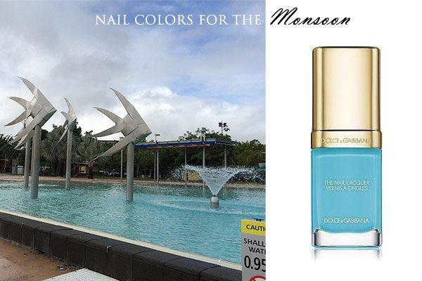 cairns_nail_polish_sky_blue_match_city_fashion_australia_queensland_monsoon_rainy_day_rain_pool_turquoise_fall_latest_trend