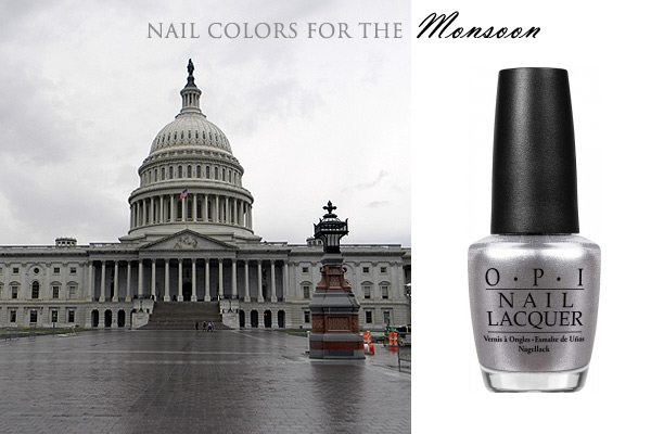 chicago_nail_polish_grey_match_city_fashion_usa_america_monsoon_rainy_day_rain_washington_united_states_capitol_view_silver_opi_fall_latest_trend