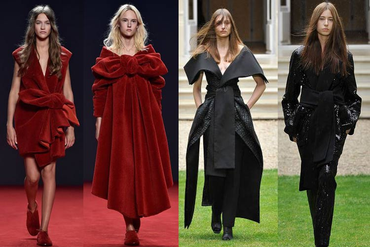 dress_large_accent_knot_belt_winter_fall_autumn_2015_couture_trends