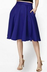 flared_blue_knee_length_skirt_office_wear_casual_online_shopping_womens