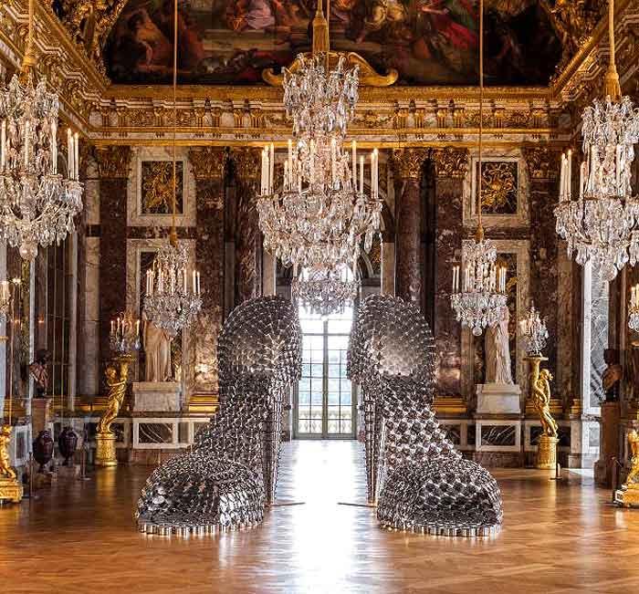 giant_shoe_pans_pots_lids_public_art_installation_paris_chateau_de_versailles
