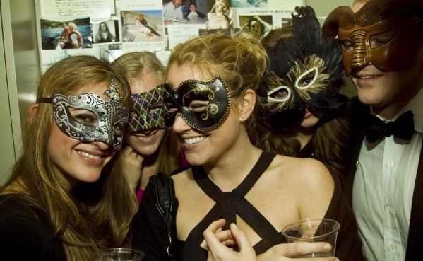 house_party_girls_night_ladies_men_black_tie_champagne_girls_glasses_smiling_cheers_masks