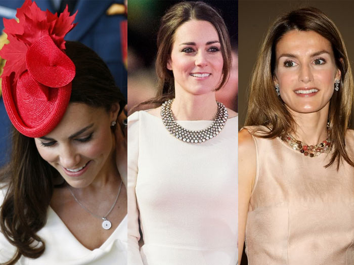 how_to_dress_like_royalty_princess_letizia_kate_middleton_necklace_pearl_diamond_red_hat
