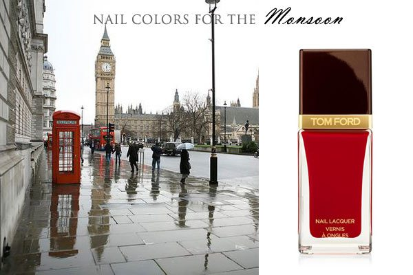 london_nail_polish_red_match_city_fashion_uk_monsoon_rainy_day_rain_big_ben_tower_view_dark_tom_ford_fall_latest_trend_scarlet_cherry
