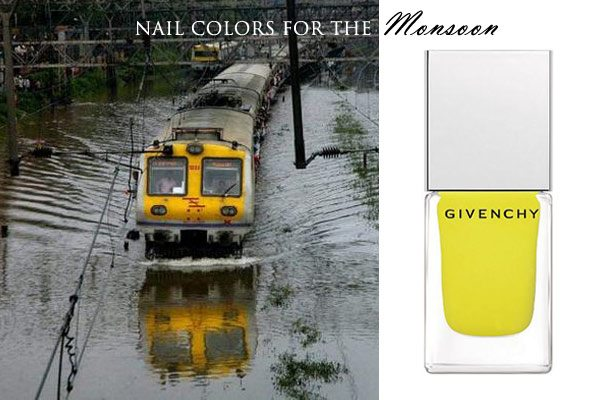 mumbai_nail_polish_yellow_match_city_fashion_india_bombay_monsoon_rainy_day_rain_train_local_view_bright_givenchy_fall_latest_trend