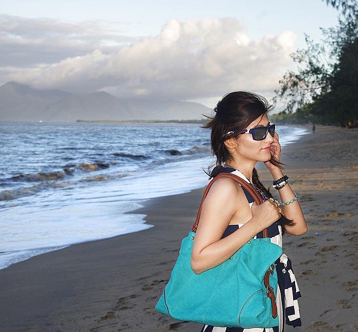 nautical_boho_look_maxi_dress_blue_white_turquoise_jimmy_choo_bag_oakley_sunglasses_shilpa_ahuja