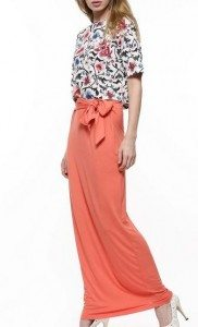 peach_bow_tie_maxi_long_skirt_summer_comfortable_koovs_online_womens_shopping_clothing