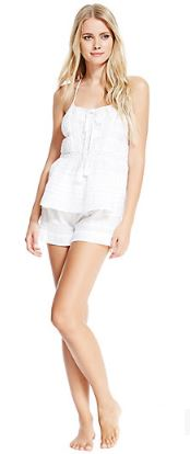 pure_cotton_cami_shorts_set_marks_spencer_sleep_night_wear_white_sexy_cute