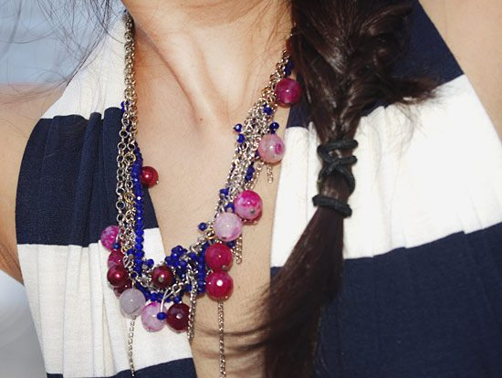 shipa_ahuja_boho_necklace_agate_pink_blue_beads_long_maxi_dress_nautical_outfit_look