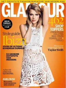 summer_fashion_trends_2015_glamour_netherlands_taylor_swift_aser_cut_white_dress_magazine_june_july_issue_cover