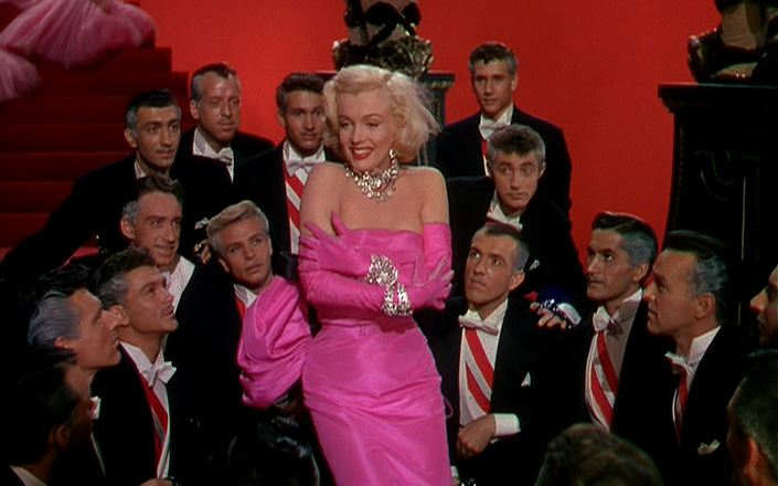 marilyn_monroe_diamonds_are_a_girls_best_friend_dancing_song_pink_dress