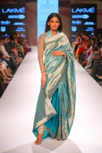 ritu_kumar_collection-2015_designer_saree_blue_turquoise_silk