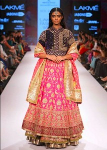 ritu_kumar_collection-2015_lakme_fashion_week_winter_pink_lehenga_gown_anarkali