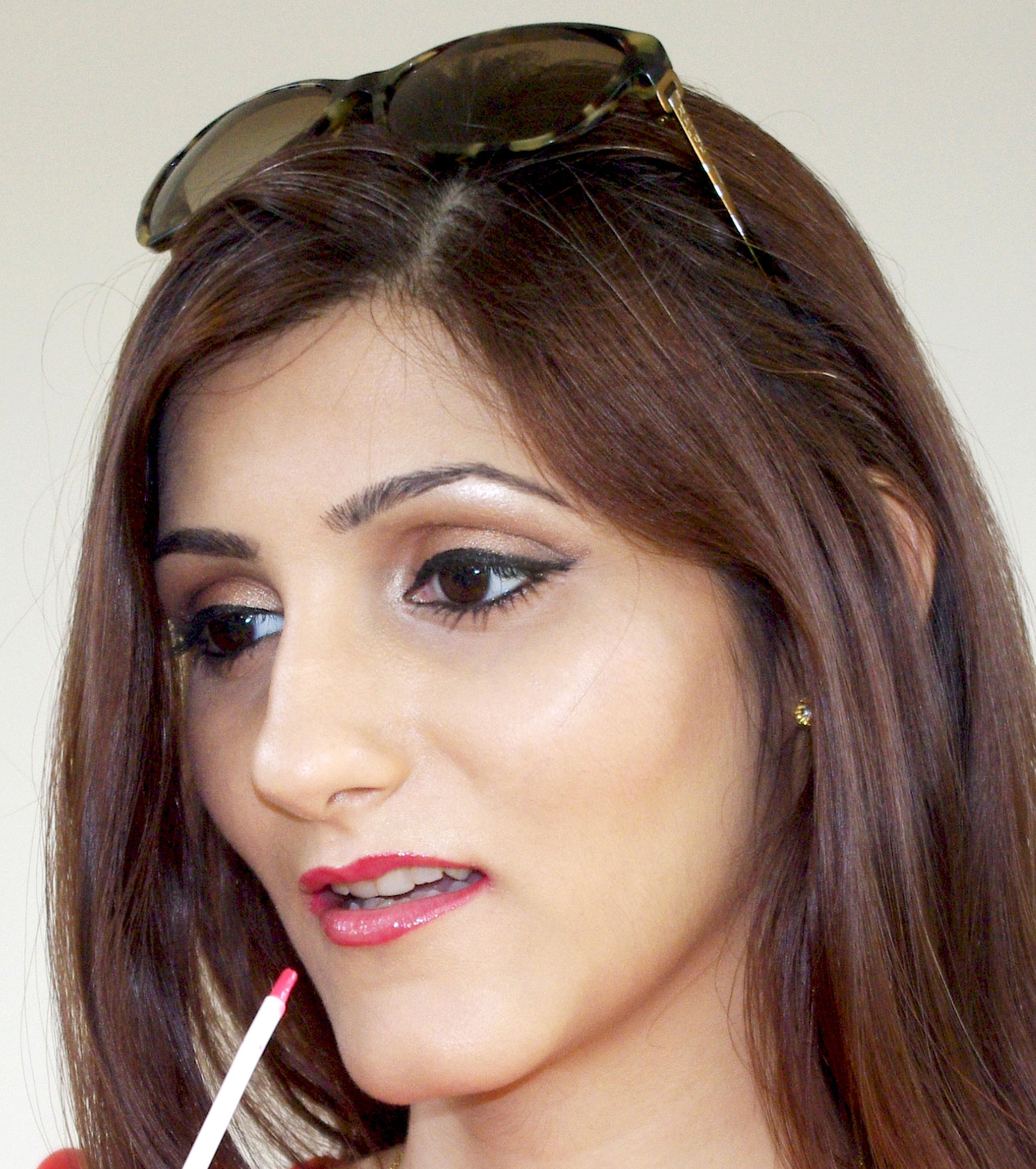 shilpa-ahuja-indian-fashion-blogger-red-lipstick-party-makeup-for-summer